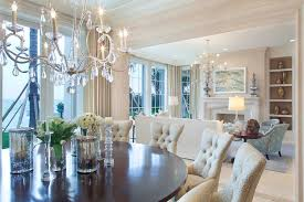 Long Crystal Chandelier Dining Room Traditional With Rooster Touch