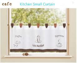 petit rideau de cuisine brodé anneau avec sling rideau court rideaux de la cuisine