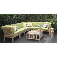 Outdoor Sofa Sets by Teak Outdoor Sofas Chairs U0026 Sectionals Shop The Best Deals For