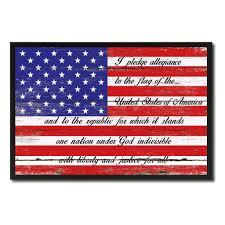 the pledge of allegiance american usa flag shabby chic patriotic