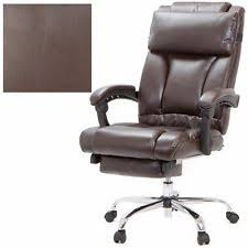 Reclining Office Chair With Footrest Belleze Executive Reclining High Back Pu Leather Footrest Armchair