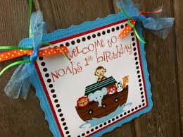 noah u0027s ark sign for baby shower or birthday party adore by nat