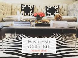 Style A Coffee Table How To Style A Coffee Table
