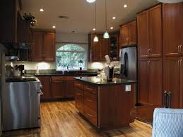 kitchen trendy kitchen colors with dark oak cabinets wood