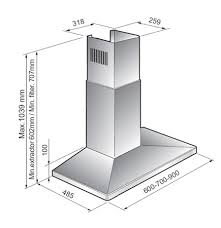 hauteur d une hotte de cuisine hauteur hotte de cuisine hotte aspirante grande hauteur