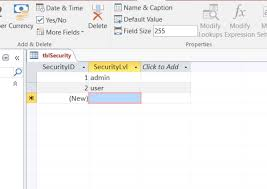 how to create a table in access how to create a login form for ms access