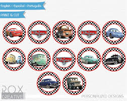 cars cake toppers disney cars birthday cupcake toppers cars favor tags napkin