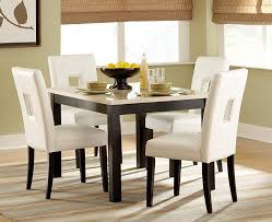archstone black square dining table with faux marble top for