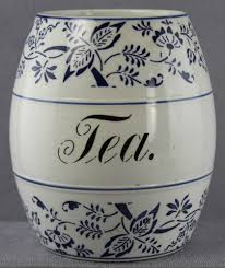 estate antique ceramic tea canister 5 1 2