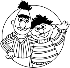 bert and ernie coloring pages funycoloring