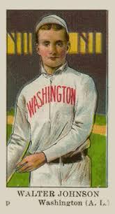 1910 american caramel walter johnson 13 baseball card value price