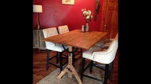 Repurpose Dining Room by Refinishing A Drafting Table And Repurposing As A Dining Room