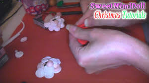 polymer clay christmas santa ornament tutorial youtube