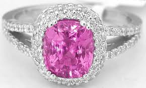 fine diamond rings images Fine quality hot pink sapphire and pave diamond ring in 18k white jpg
