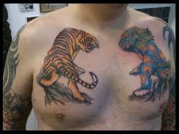 tiger in waves on chest photo 4 2017 photo