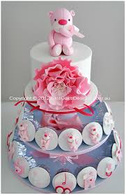 pink teddy baby shower cupcakes christening cupcakes prams and