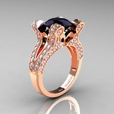 Rose Gold Wedding Rings by French Vintage 14k Rose Gold 3 0 Ct Blue Sapphire Pisces Wedding