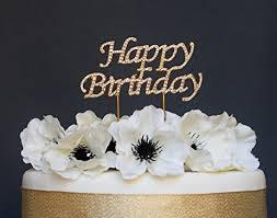 gold cake topper happy birthday gold cake topper premium