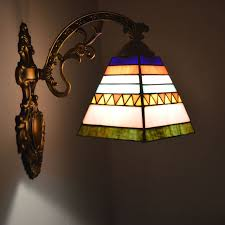 Stained Glass Light Fixtures Tiffany Wall Lamp Spanish Style Stained Glass Wall Sconce Bathroom