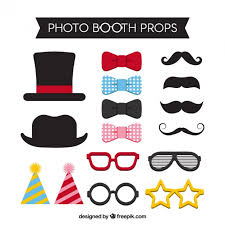 accessories for several accessories for photo booth vector free