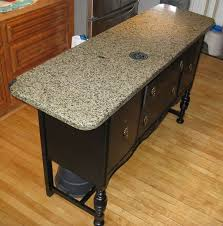 repurposed kitchen island ideas kitchen island made from buffet and a of granite