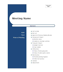 46 effective meeting agenda templates template labsample