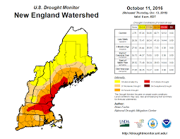 New England Area Map by New England Watershed Drought Monitor