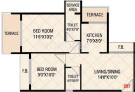 650 sq ft 2 bhk floor plan image today empire available for sale