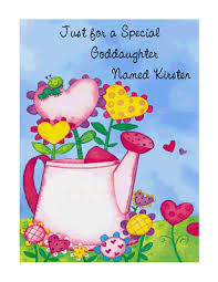 special goddaughter greeting card happy birthday printable card