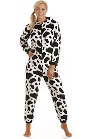 womens black and white cow print onesie size 10 20