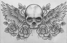 skull sword drawing wings recherche s