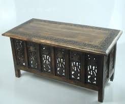 coffee tables and side tables brown white hand carved indian wooden coffee table side tables