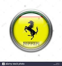 ferrari logo flag symbol icon emblem stock photo royalty free