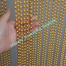 8mm beads gold color metal ball chain curtains for shop malls