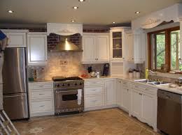kitchen backsplash ideas white cabinets brown countertop cottage