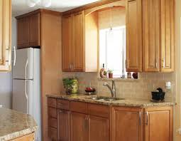 Kitchen Backsplashes With Granite Countertops by Warm Kitchen Design With Granite Countertops Peach Subway Tile