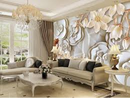 custom any size 3d embossed rose magnolia tv wall mural 3d see larger image