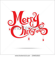 merry text free design stock vector 226602823