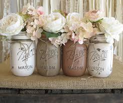 Vintage Vases For Sale Sale Set Of 4 Pint Mason Jars Ball Jars Painted Mason