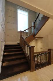 sherwin williams accessible beige staircase eclectic with brown