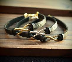 Handmade Mens Bracelets - pu leather bracelet for handmade bracelets charms black