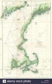 Map New England by 1859 U S Coast Survey Map Of The New England Coast Stock Photo