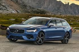 blue volvo station wagon first drive 2018 volvo v90 r design thedetroitbureau com