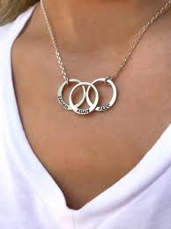 name chain circle name necklace engraved circle necklaces