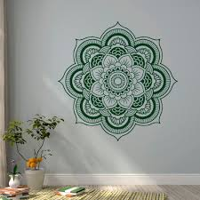 Livingroom Yoga Aliexpress Com Buy Bohemian Mandala Flower Wall Decal Vinyl Wall