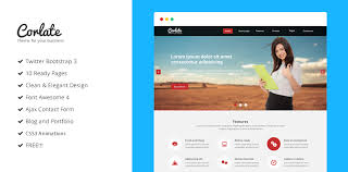 corlate free responsive business html template 427724 on wookmark