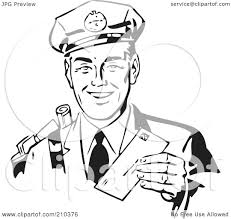 mailman coloring pages royalty free rf clipart illustration of a retro black and white