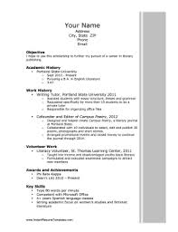 Achievements Resume Examples by Scholarship Resume Template
