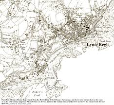 Lyme Map Lyme Regis Seafront Geology By Ian West