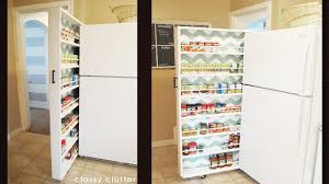 Building Wood Shelves In Pantry by Build A Space Saving Roll Out Pantry That Fits Between The Fridge